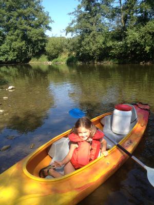 Kayak sur l'Ourthe à Hamoir
