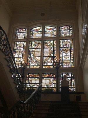 Anderlecht : vitrail à l'hôtel de ville