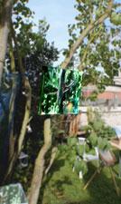 Les artistes exposent dans les jardins