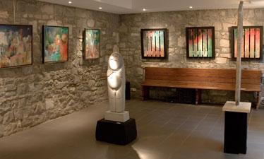 Sculpture de Nicodème et palettes de Merget