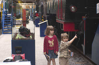 Les trains au musée du chemin de fer à vapeur à Traignes