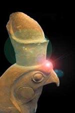 Statue du Dieu Horus, collections du musée de Mariemont