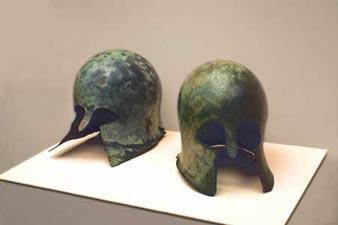 casques de l'antiquité au Musée de Mariemon