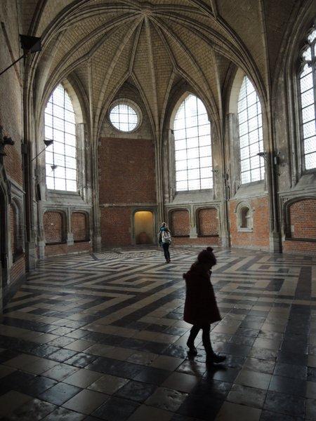 Excursion à Lille : la Salle du Conclave, au premier étage du Palais Rihour