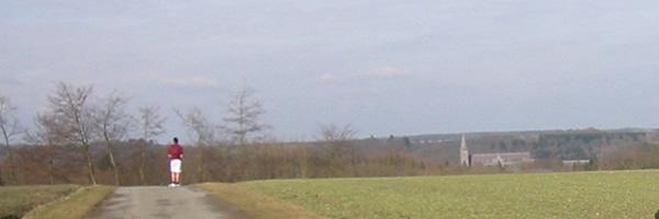Panorama sur l'abbaye de Maredsous
