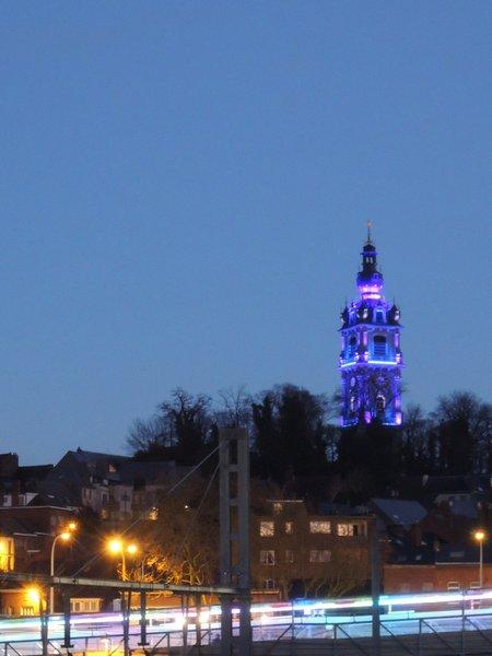 Eclairage de beffroi pour Mons 2015