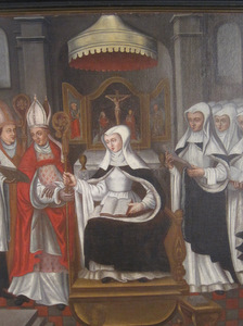 Nivelles : tableau de Sainte Gertrude au Musée Communal