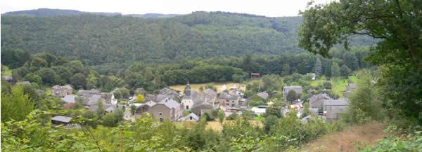 Vue panoramique sur le village de Laforêt