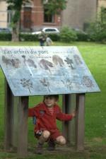 Panneau explicatif dans le parc de la Plante
