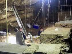 Les fouilles archéologiques à la grotte Scladina