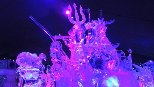 Sculptures de glace à Liège