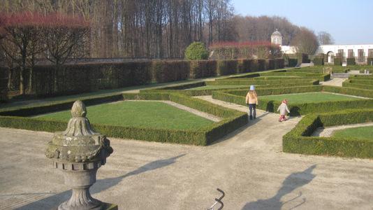 Château de Seneffe : jardin dessiné par René Pechère