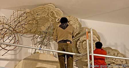 Le travail des sculpteurs