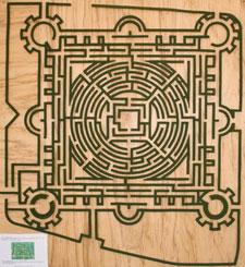 Le labyrinthe de Barvaux en 2002